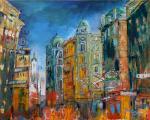 """Wien Graben"" Acryl Leinen 100/80"