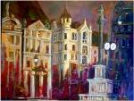-Am Hof Wien - Acryl Leinen  70/5o