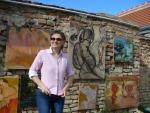 Kunstmauer Schloß Neugebeude Lidia Molinski